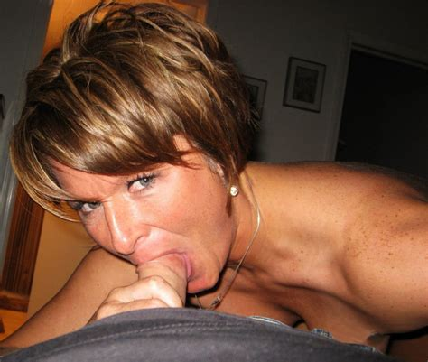 Fit Short Haired Redhead Milf Sucks And Fucks And Gets Cum