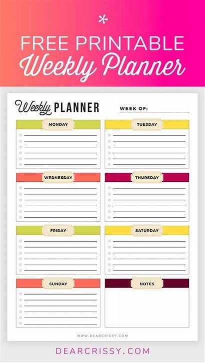 Planner Weekly Printable Planners Monthly Printables Calendars