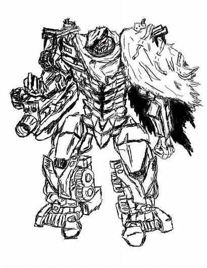 Megatron Coloring Transformers Moon Deviantart Dark Malvorlagen