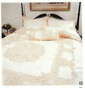 Queen Bedroom Comforter Sets by Elite Battenburg Lace Bedding Ensemble Amp Matching Sheet