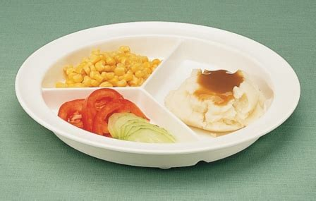 GripWare Partitioned Scoop Dish :: divided plate with non