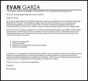 mechanical design engineer cover letter sample livecareer With cover letter for mechanical engineer
