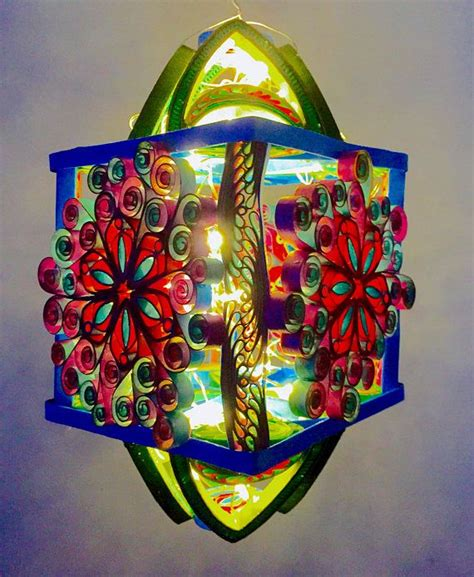 quilled paper art lantern enjoy  paper piece  custom