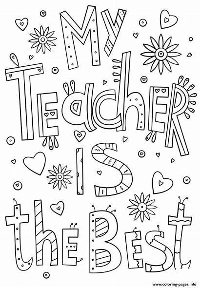 Teacher Coloring Thank Certificate Teachers Pages Printable