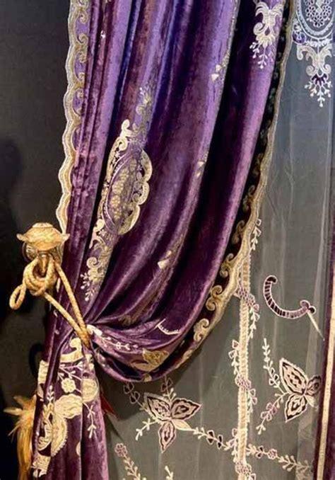purple velvet drapes constance velvet curtain panel