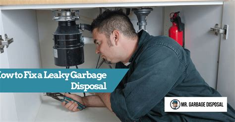 how to fix leaking garbage disposal how to fix a leaky garbage disposal mr garbage disposal