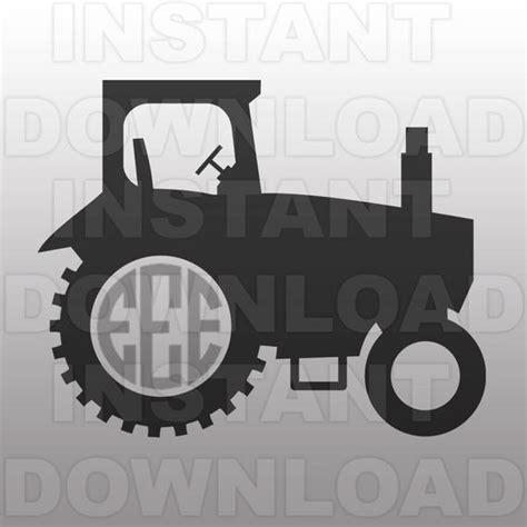 farm tractor monogram svg file cutting template vector clip