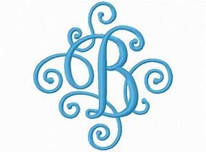 58 best embroidery fonts single letters images on for Single letter monogram styles