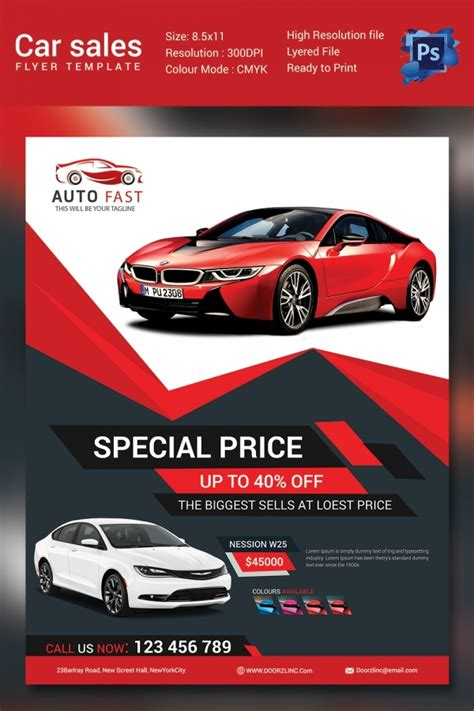 Car Wallpapers Free Psd Flyer Template by Sales Flyer Template 61 Free Psd Format Free