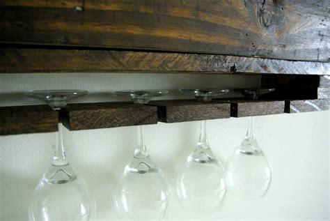 diy wine glass rack diy wall mounted wine racks made of pallets