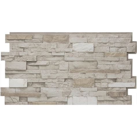 Urestone 24 In X 48 In Stacked Stone #45 Almond Taupe