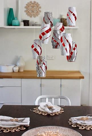 recycle christmas ornaments  toilet paper rolls