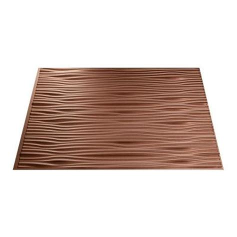 fasade 18 in x 24 in waves pvc decorative tile