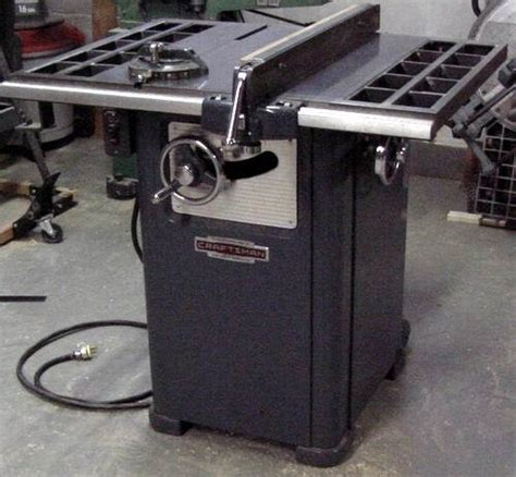craftsman professional cabinet saw photo index sears craftsman 103 27270 10 quot cabinet