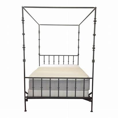 Canopy Bed Iron Wrought Queen Kreiss Chairish