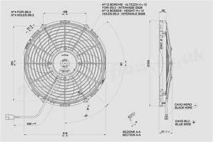 30100469a Spal 12 U0026quot   305mm  Cooling Fan Va10 C