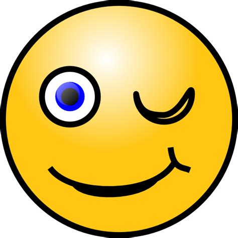 Wink Smiley Clip Art At Clkercom  Vector Clip Art Online