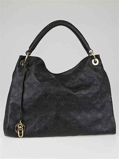 louis vuitton black monogram empreinte leather artsy mm bag yoogis closet