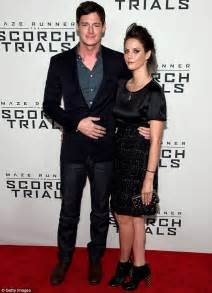 Purple Carpet Runner by Kaya Scodelario With Benjamin Walker At Maze Runner The