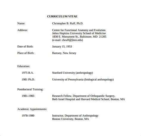 sample functional cv  documents   word