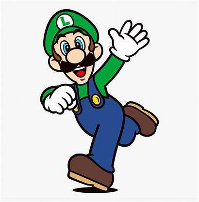 Mario Luigi Cartoon Super 2d Character Transparent