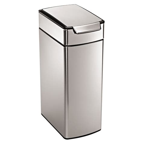 kitchen trash can simplehuman slim touch bar can 11 gallon trash can