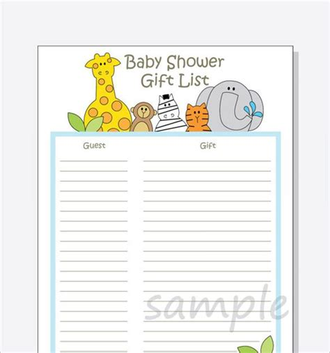 All downloads are professionally designed in neutral colors to match most baby shower themes. 8+ Free Word, Excel, PDF Format Download! | Free & Premium ...