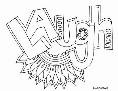 Coloring Word Pages Laugh Doodle Alley