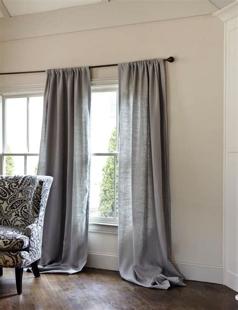 Grey Drapery Panels by Gray Linen Curtains Gray Decor Traditional Curtains