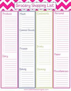Free Printable Grocery Shopping List - Addicted 2 Savings ...
