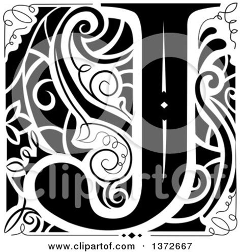 clipart   black  white vintage letter  monogram royalty  vector illustration  bnp