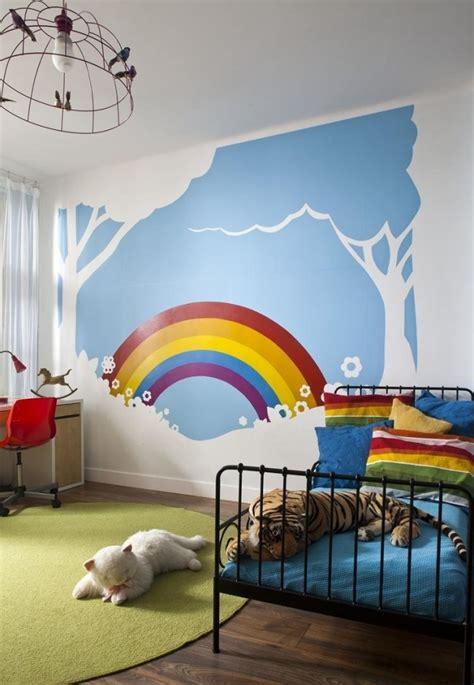 Kinderzimmer Gestalten Regenbogen farb und wandgestaltung im kinderzimmer 77 tolle ideen