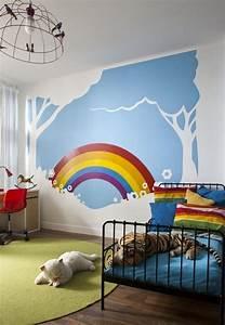 Kinderzimmer Wandgestaltung Ideen : wandgestaltung kinderzimmer regenbogen verschiedene ideen f r die ~ Sanjose-hotels-ca.com Haus und Dekorationen