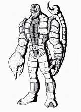 Scorpion Mortal Kombat Coloring Extreme Drawing Marvel Template Clipartmag Deviantart Sketch sketch template