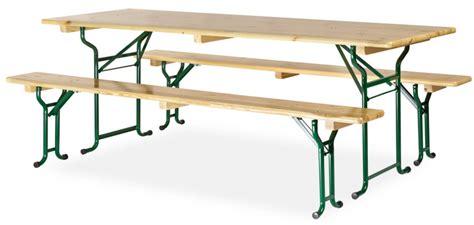 Table Avec Banc En Bois 220x70 Cm  Piètement Tubulaire