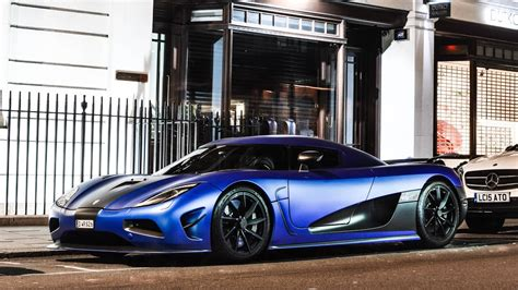 Matte Blue Koenigsegg Agera R Start Up, Accelerations And