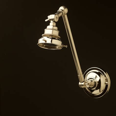nickel adjustable arm wall shade