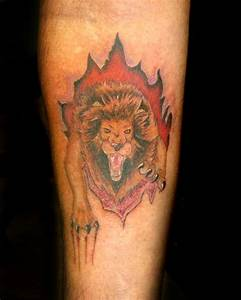 Lion Skin Tear by Stacey Blanchard: TattooNOW