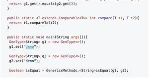 Java Generic Methods Examples