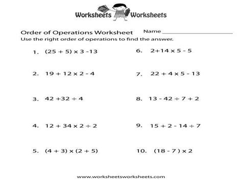 Pemdas Worksheet Homeschooldressagecom