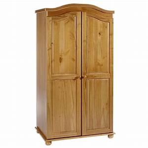 Armoire En Pin Massif : armoire penderie en pin massif davos 3 coloris ~ Teatrodelosmanantiales.com Idées de Décoration
