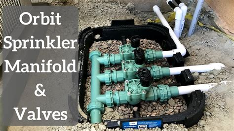 install orbit sprinkler manifold  valves youtube