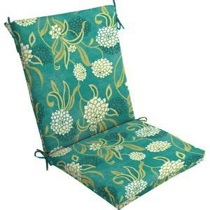 mainstays outdoor dining chair cushion snowball floral