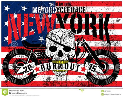american flag skull motorcycle man  shirt graphic vector design stock vector image