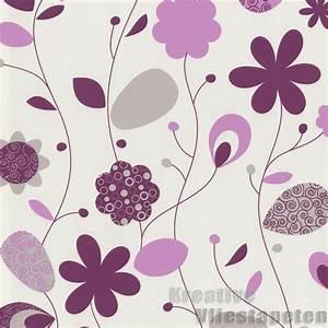 vliestapete blumen 164eur m2 rosa violett lila tapete With balkon teppich mit lila blumen tapete