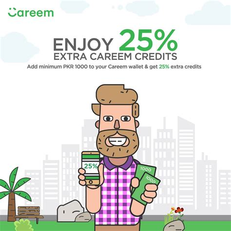 Top Up Your Careem Account With Minimum Pkr. 1000