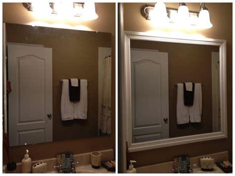 Easy And Cheap Bathroom Mirror Upgrade
