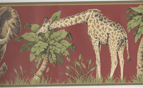 Jungle Animals Wallpaper Border - jungle animals wallpaper border clearance quantities