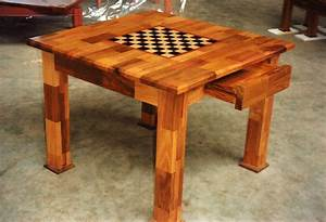 Checkerboard Chess Table DIY Furniture Plans & Technical
