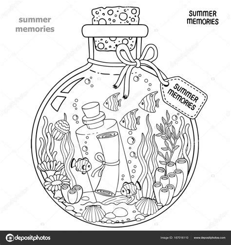 Kleurplaat Volwassenen Zomer by Vector Kleurboek Voor Volwassenen Een Glas Ketel Met